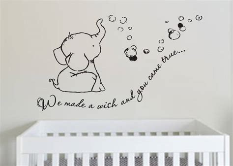 Butterfly Wall Murals adorable we made a wish baby elephant wall decal sticker