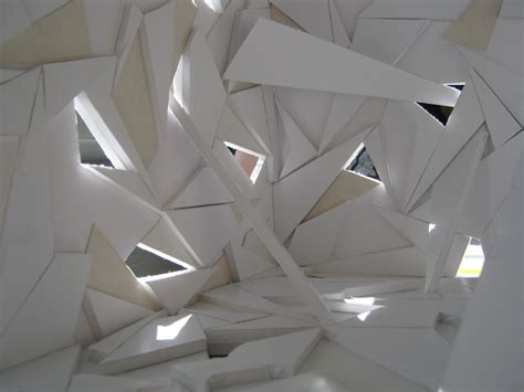 architecture origami applying the of origami into architectural interior