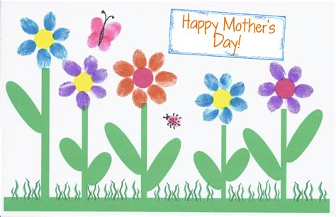 mothers day card hollyshome church a fingerprint s day card