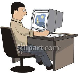 drawing on computer at computer clipart clipart suggest