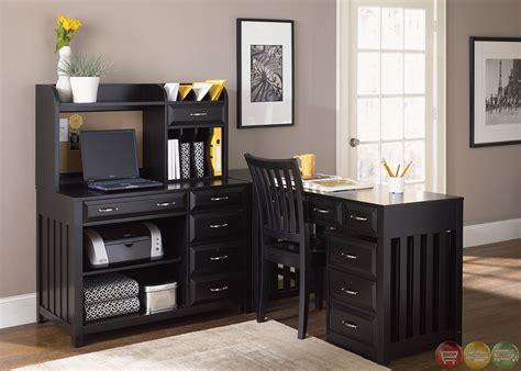 l shaped desks for home office hton bay black finish l shaped home office desk