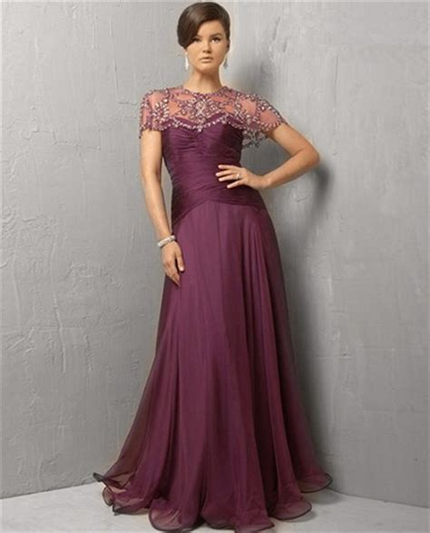beaded evening dresses modest a line strapless purple chiffon evening dress