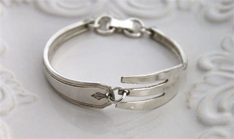 make jewelry from silverware vintage bracelet silverware jewelry fork bracelet sterling