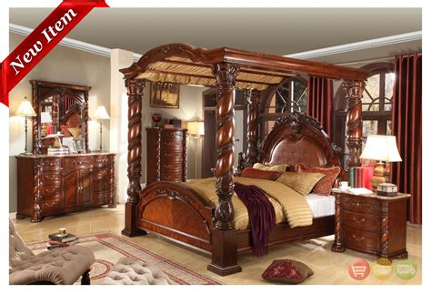 king size canopy bedroom sets castillo de cullera canopy bedroom collection cherry