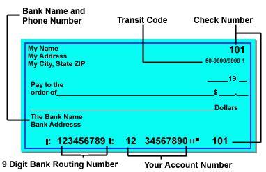 how do you read a direct deposit ap columbia finance gateway