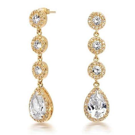 how to make chandelier earrings with vintage gold crown set cz pave teardrop chandelier earrings