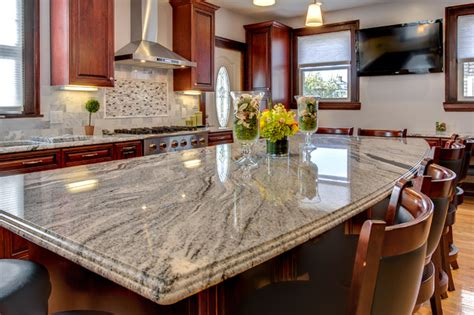 cherry kitchen cabinets with granite countertops viscont white granite countertops with cherry cabinets