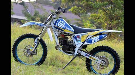 Modifikasi Motor Suzuki by 80 Modifikasi Motor Trail Suzuki Modifikasi Trail