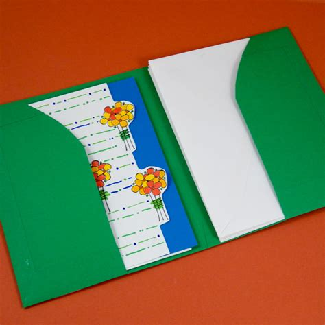 how to make open when cards tutorial for a greeting card pocket folder