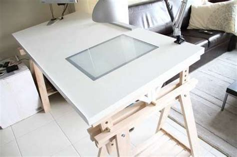 drafting table with lightbox ikea drawing table with lightbox home studio