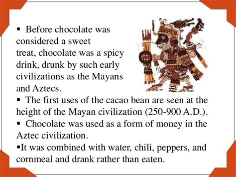 the history of the history of chocolate