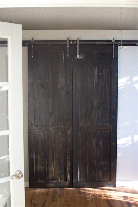 diy hanging door how to build barn doors