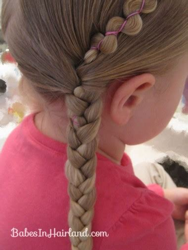 how to put on braids with rubber bands rubber band wraps flipped braids in hairland