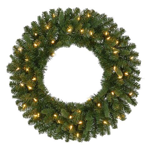lit wreaths home accents 30 in led pre lit nature inspired