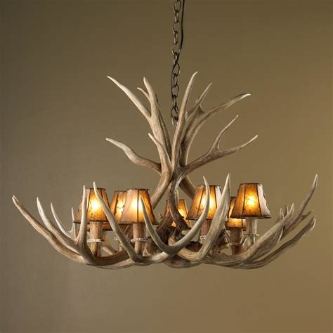 deer horn chandeliers authentic 8 light deer antler chandelier chandeliers by shades of light