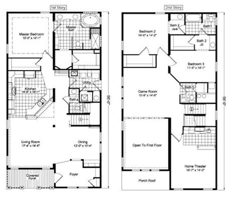 2 story floor plans two story house floor plans two floor house plans two