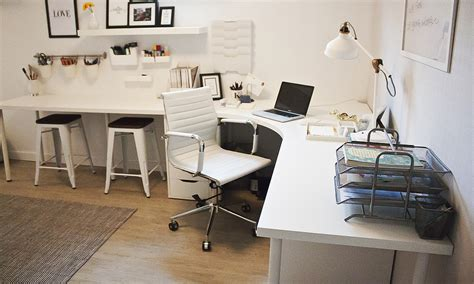 ikea corner office desk home office corner desk setup ikea linnmon adils