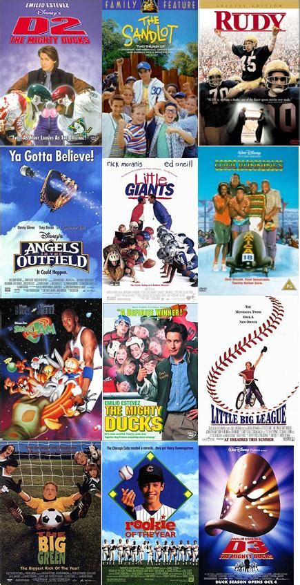 best sports movies if you don t remember these things you re too young for