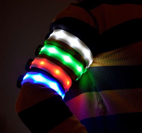 multicolour led led light up multicolor safety armband eternity led