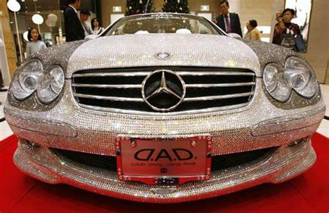most expensive car swarovski studded mercedes sl600 indi zoom