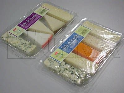 Modified Atmosphere Packaging Of Cheese by Cheese Portions On Rigid Tray Packaging In Traysealing