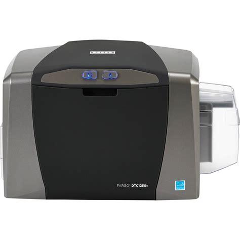printers for card fargo dtc1250e single sided id card printer 50000 b h photo