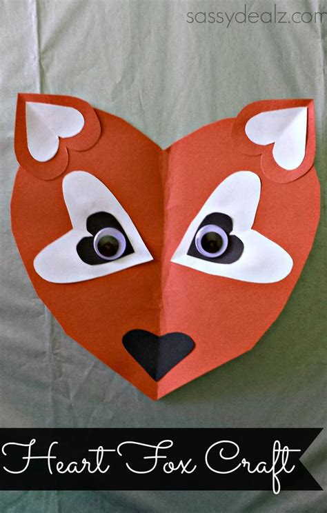 paper hearts crafts paper fox craft for