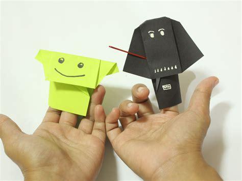 origami wars finger puppets c 243 mo hacer t 237 teres de dedo origami de personajes de la
