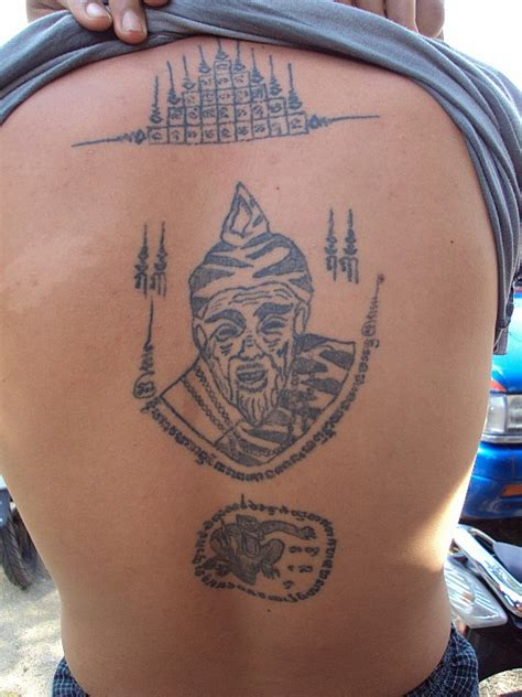 sak yant thai temple tattoos por gae