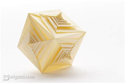 tomoko fuse origami spiral faced cube by tomoko fuse modular origami go