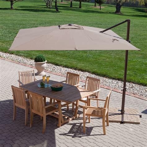 5 ft patio umbrella modern 8 5 ft offset cantilever square patio umbrella with