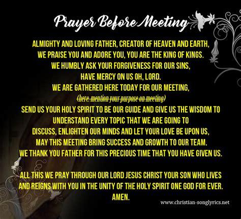 prayer for opening prayer before office meeting opening prayer for