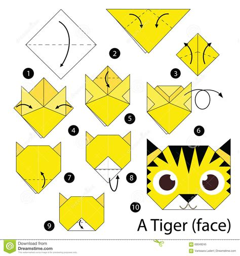 origami tiger easy step by step how to make origami a tiger