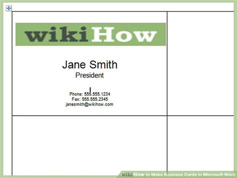 how to make business cards with word how to make business cards in microsoft word with pictures