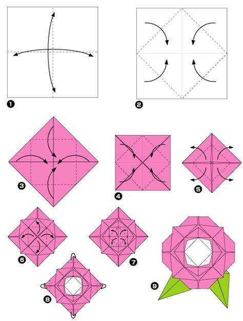 rosa de origami origami de rosa imagui