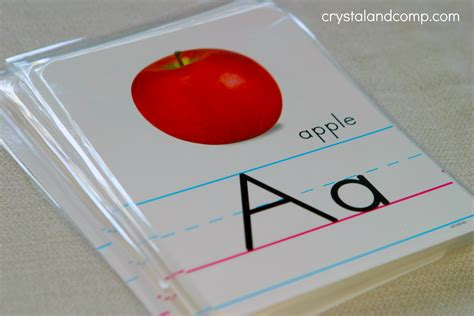 how to make letter card teach your preschooler their abcs