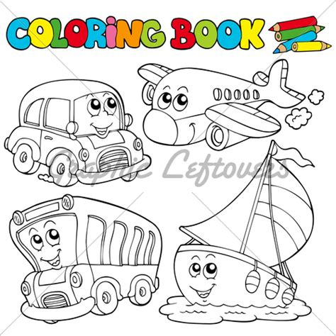 coloring picture of book coloring book with various vehicles 183 gl stock images