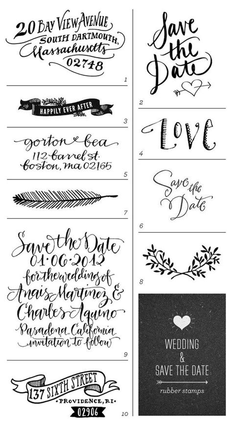 rubber date st font wedding save the date rubber sts stickers sts