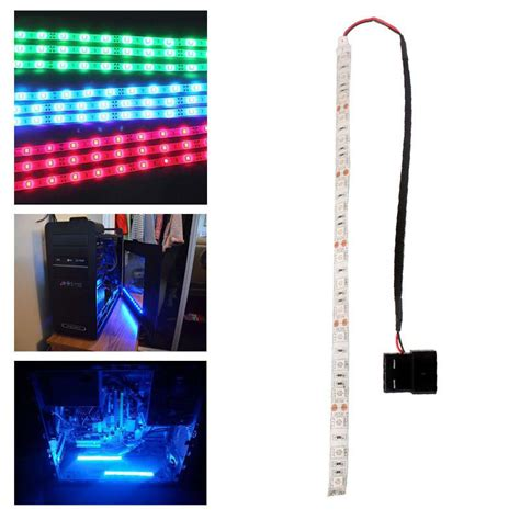 computer led light strips blue green 60cm 5050smd led pc computer