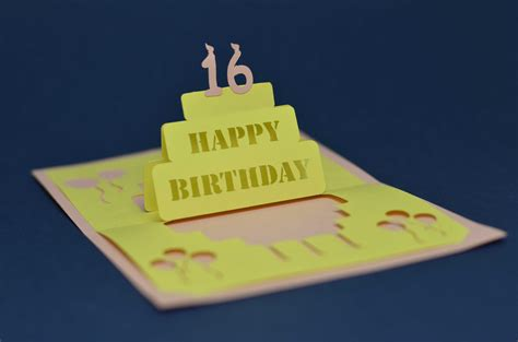 how to make birthday cake pop up card detailed birthday cake pop up card template