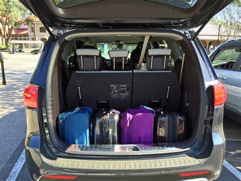 Minivan Cargo Space by 2016 Kia Sedona For Extended Family Travel A