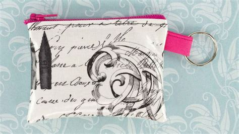 how to make a purse with how to sew a zipper coin purse