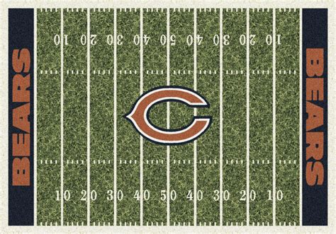 chicago bears area rug chicago bears nfl home field area rug