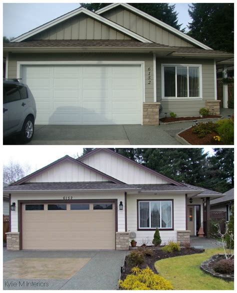 before and after small home before and after exterior color palette on a small ranch