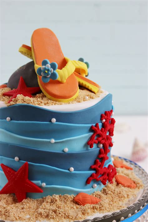 decoracion tartas fondant paso a paso paso a paso tarta playa lovely cakes pinterest
