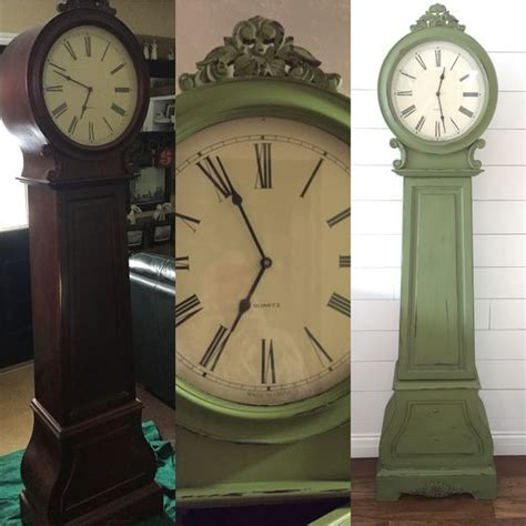 chalk paint grandfather clock grandfather clock re do chalk paint distressed and