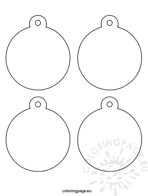 tree ornaments templates tree ornaments coloring template coloring pages