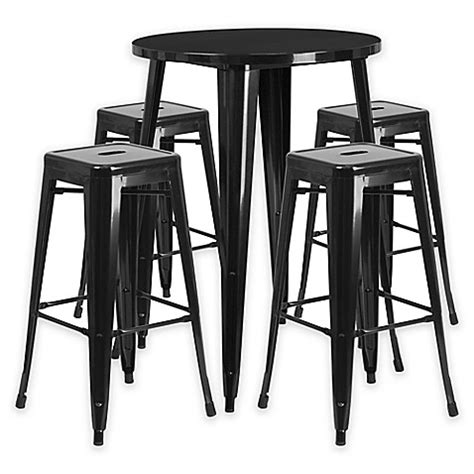 flash furniture 5 30 inch metal bar table and