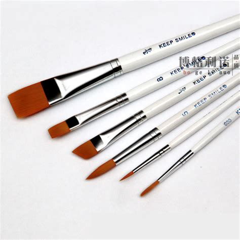 acrylic paint brush 6pcs set hair white pole multifunction paint brush