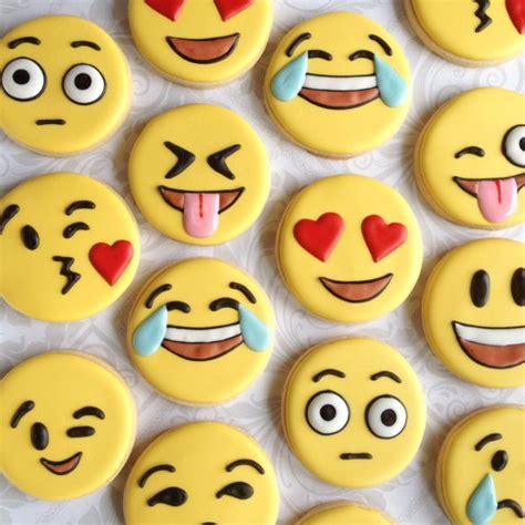 decorate cookies sugar emoji emoticon cookies one dozen decorated sugar